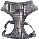 Puppia Kemp Harness-A for Pets, Mélange Grey, Medium