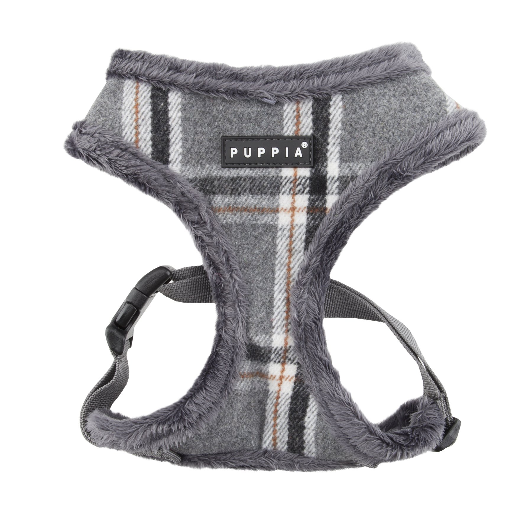 Puppia Kemp Harness-A for Pets, Mélange Grey, Small