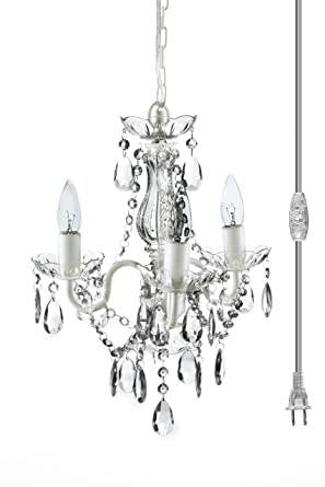 The original gypsy color 3 light mini plug in crystal chandelier for the original gypsy color 3 light mini plug in crystal chandelier for h17quot w12quot audiocablefo