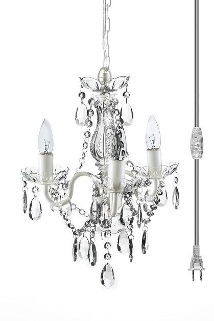 The original gypsy color 3 light mini plug in crystal chandelier the original gypsy color 3 light mini plug in crystal chandelier for h16quot w13quot aloadofball Gallery