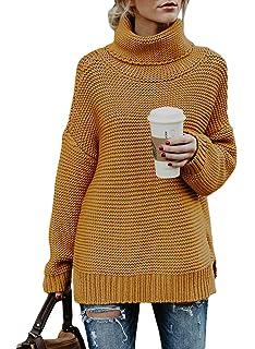 Dokotoo Damen Sweatshirt Hoher Kragen Pullover Langarm Winter Elegante Warm  S-XXL e631162b16