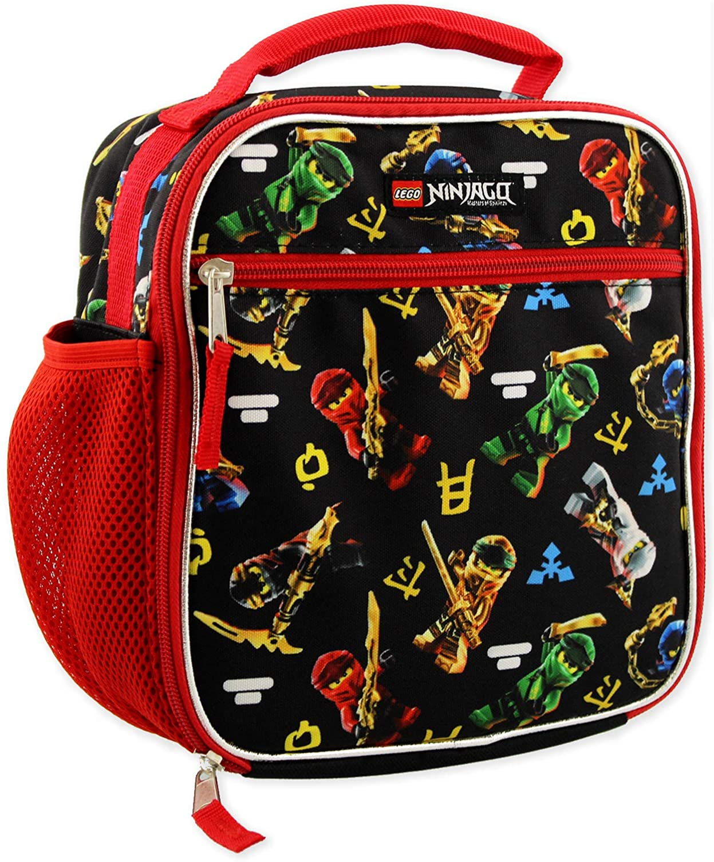 Lego Ninjago Masters of Spinjitzu Boys Soft Insulated School Lunch Box (One Size, Black/Red)