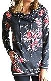 Angashion Women Hoodies-Tops- Floral Printed...