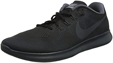 NIKE Men's Free RN 2017, Black/Anthracite-Dark Grey, ...