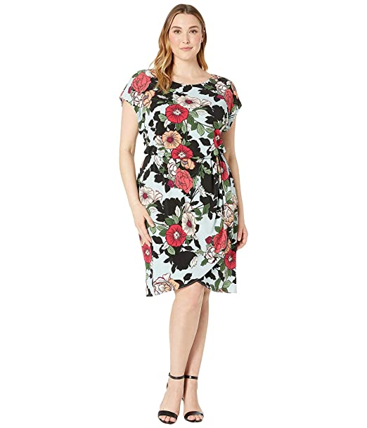 Adrianna Papell Women\'s Plus Size Sweet Carolina Hibiscus ...