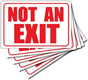 (5 Pack) Not an Exit Signs for Business 10
