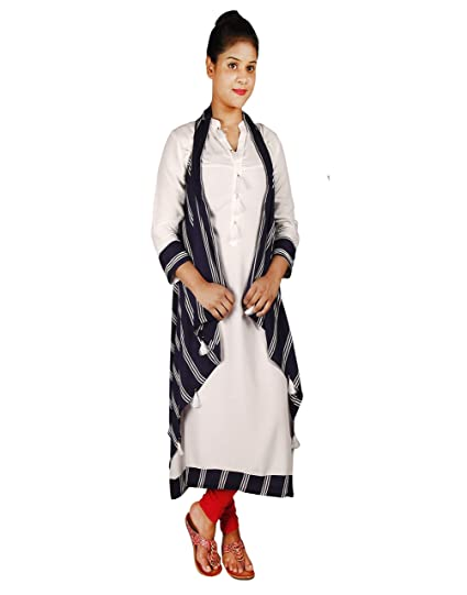 a15f154ddba Mitra Creations Latest Designer Long Kurti with Shrug - Long Kurti With  Shrug - B  Amazon.in  Clothing   Accessories