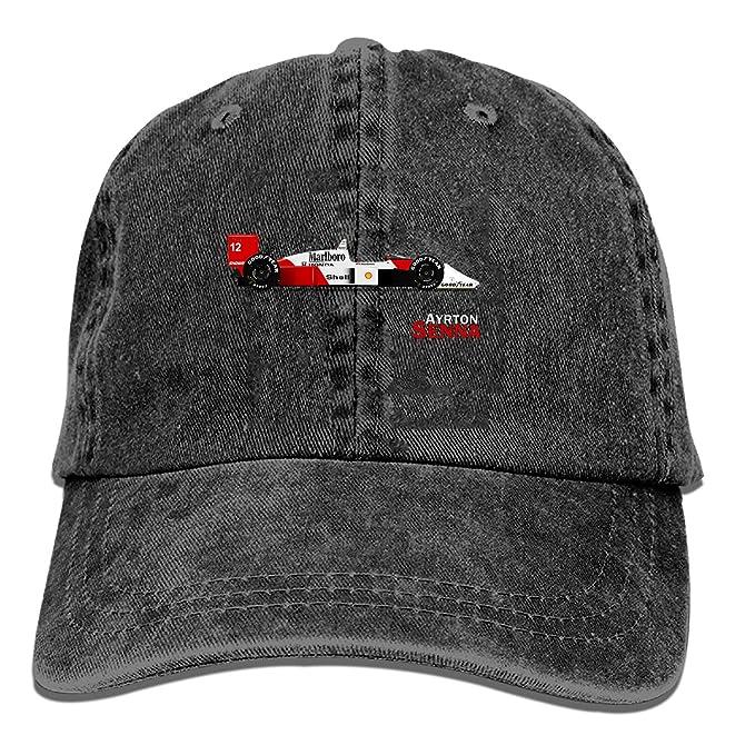 a729b483b Black Baseball Cap-Ayrton Senna Mclaren Mp Trucker Hat Washed Cotton  Vintage Adjustable Dad Hat