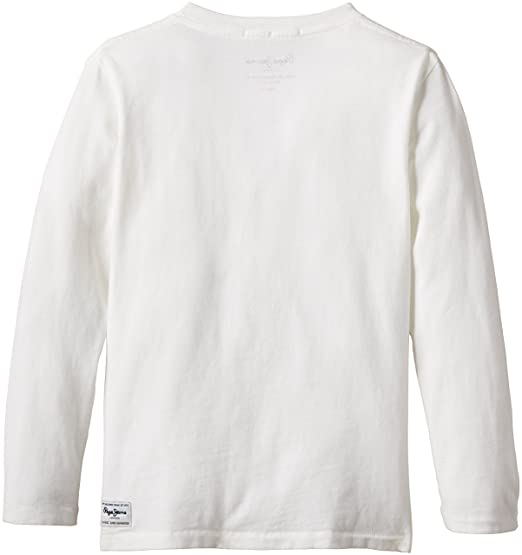 Pepe Jeans Toby, Camiseta para Niños, Blanco (Off White), años (Talla Fabricante: 14): Amazon.es: Ropa y accesorios