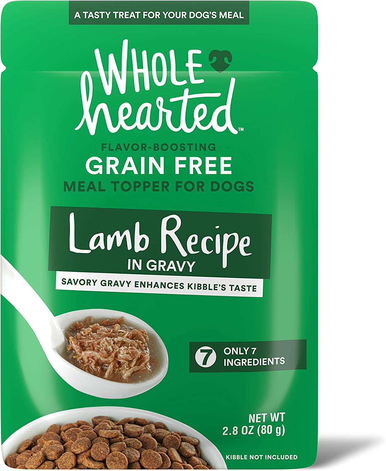 WholeHearted Lamb Recipe in Gravy Dog Meal Topper, 2.8 oz, Case of 6, 6 X 2.8 OZ