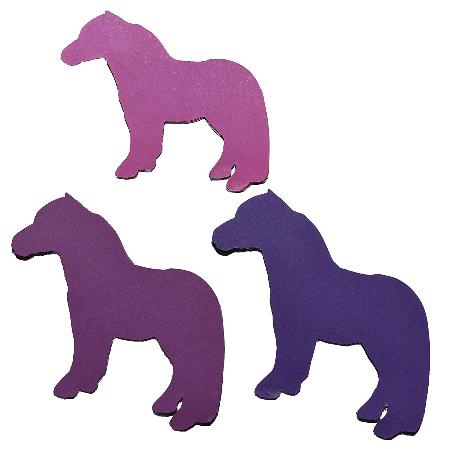 Laminated Construction Paper Horses Tri-Color 3 Pack