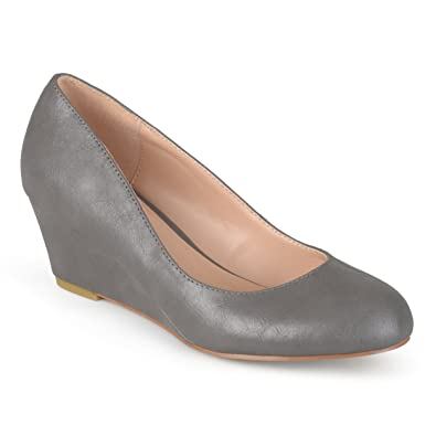 3151e9bf4eea Journee Collection Women s Classic Round Toe Wedges Grey