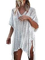 Jeasona Women's Bathing Suit Cover Up Beach Bikini Swimsuit Swimwear Crochet Dress