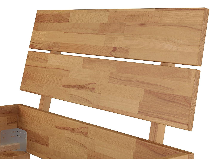 Erst-Holz Moderno Letto//futon 100x200 in Faggio Eco Laccato con doghe rigide 60.80-10