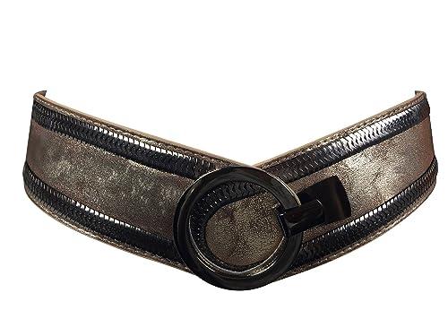 Markenlos - Cinturón - para mujer dorado antiguo Talla única