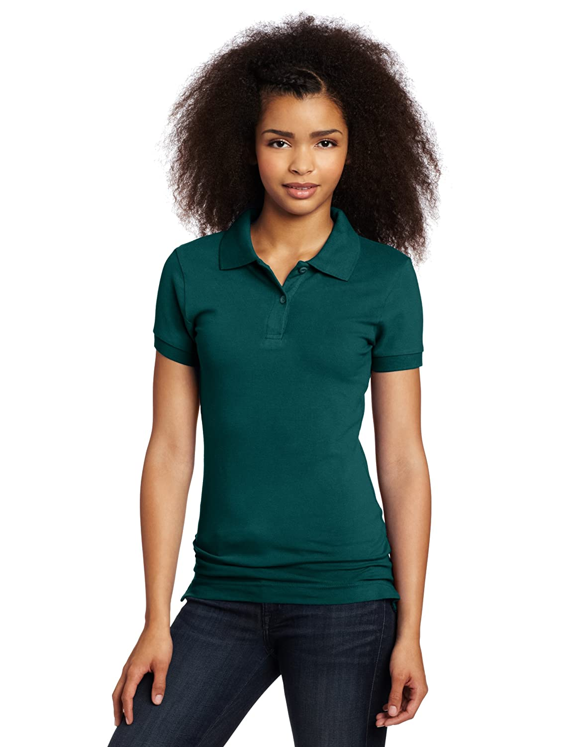 Lee Uniforms Juniors Stretch Pique Polo, Hunter Green, Large ...