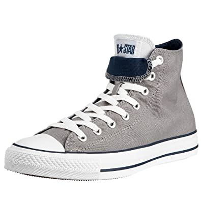 56f68c68c7679a Converse Unisex Chuck Taylor AS Double Tongue HI Lace-Up Grey Navey White  112219 13 UK  Amazon.co.uk  Shoes   Bags