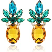 Holylove Pineapple Earrings for Women Jewelry Hawaiian Vacation Beach Party Daily with Gift Box