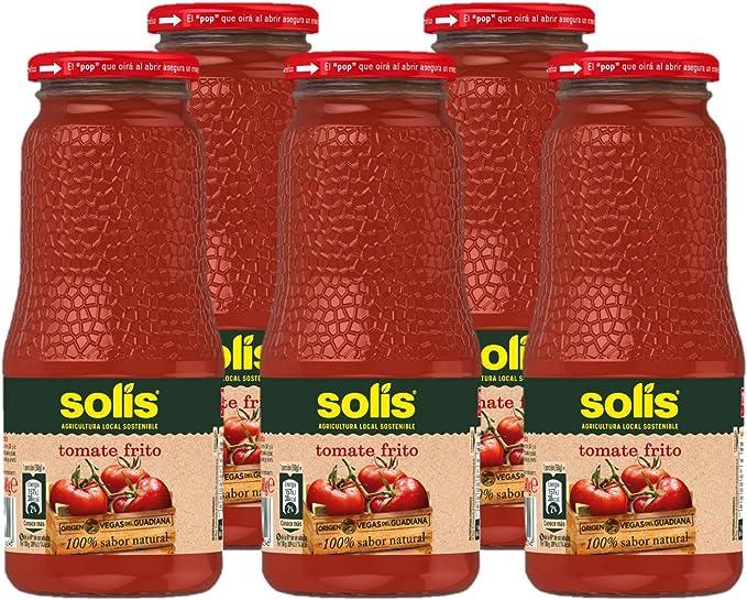 SOLIS Tomate Frito Frasco Cristal - Pack de 5 x 360g - Tomate ...