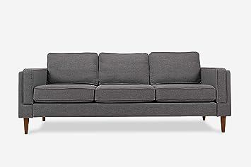 Stupendous Albany Park Mid Century Modern Sofa Grey Fabric Machost Co Dining Chair Design Ideas Machostcouk