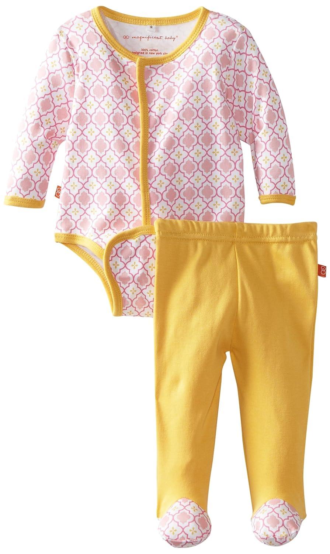 モロッコMagnificentベビーベビー女の子新生児長袖ボディスーツとパンツセット 3S ピンク B008EHNVGG
