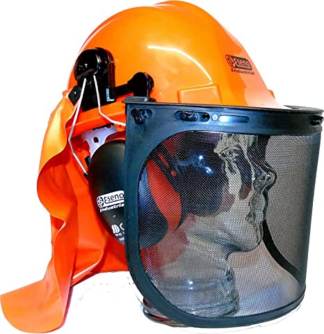 6df20428 Buy ESENO INDUSTRIAL CHAINSAW/FORESTRY SAFETY HELMET KIT WITH EAR  DEFENDERS, VISORS & NECK GUARD Online at Low Prices in India - Amazon.in