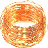 LED Fairy Lights, Oak Leaf 2 Set of USB 60 LED Starry String Lights Copper Wire for Home Bedroom Christmas Party Wedding Decoration,19.7ft,Warm White