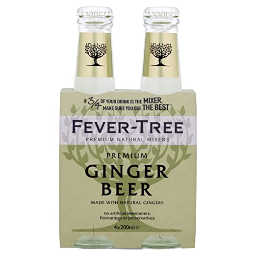 2 opinioni per Fever-Tree Ginger Beer 4 x 200 ml (Pack of 6, Total 24 Bottles)