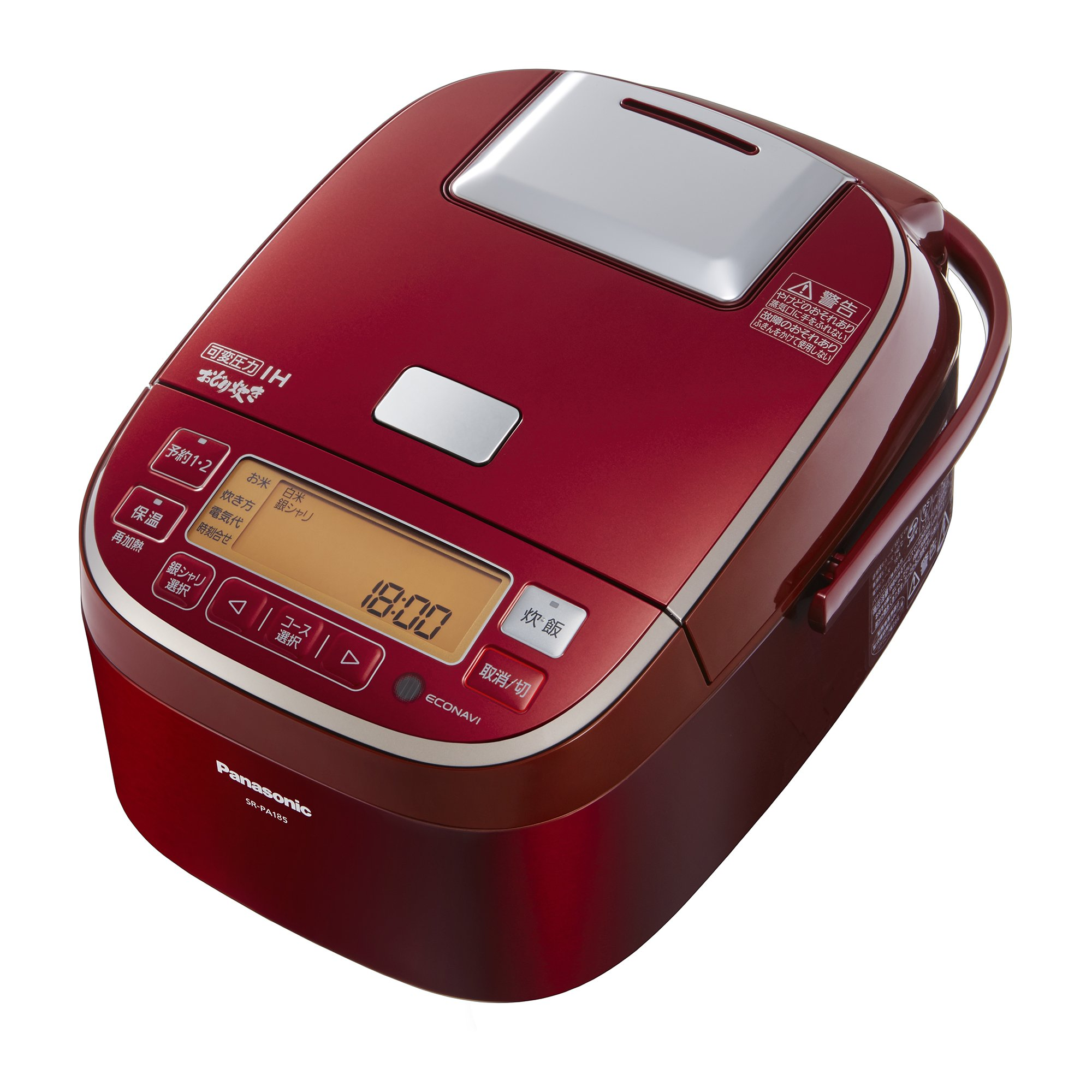 Panasonic variable pressure IH rice cookers (1 bushel cook) Red dance cook SR-PA185-R