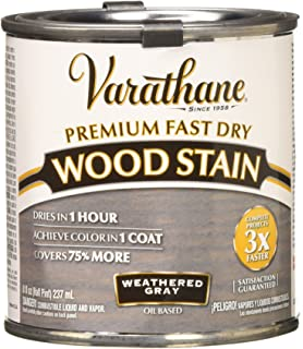 Rust Oleum 269398 1 2 Pint Varathane Fast Dry Wood Stain Weathered Gray