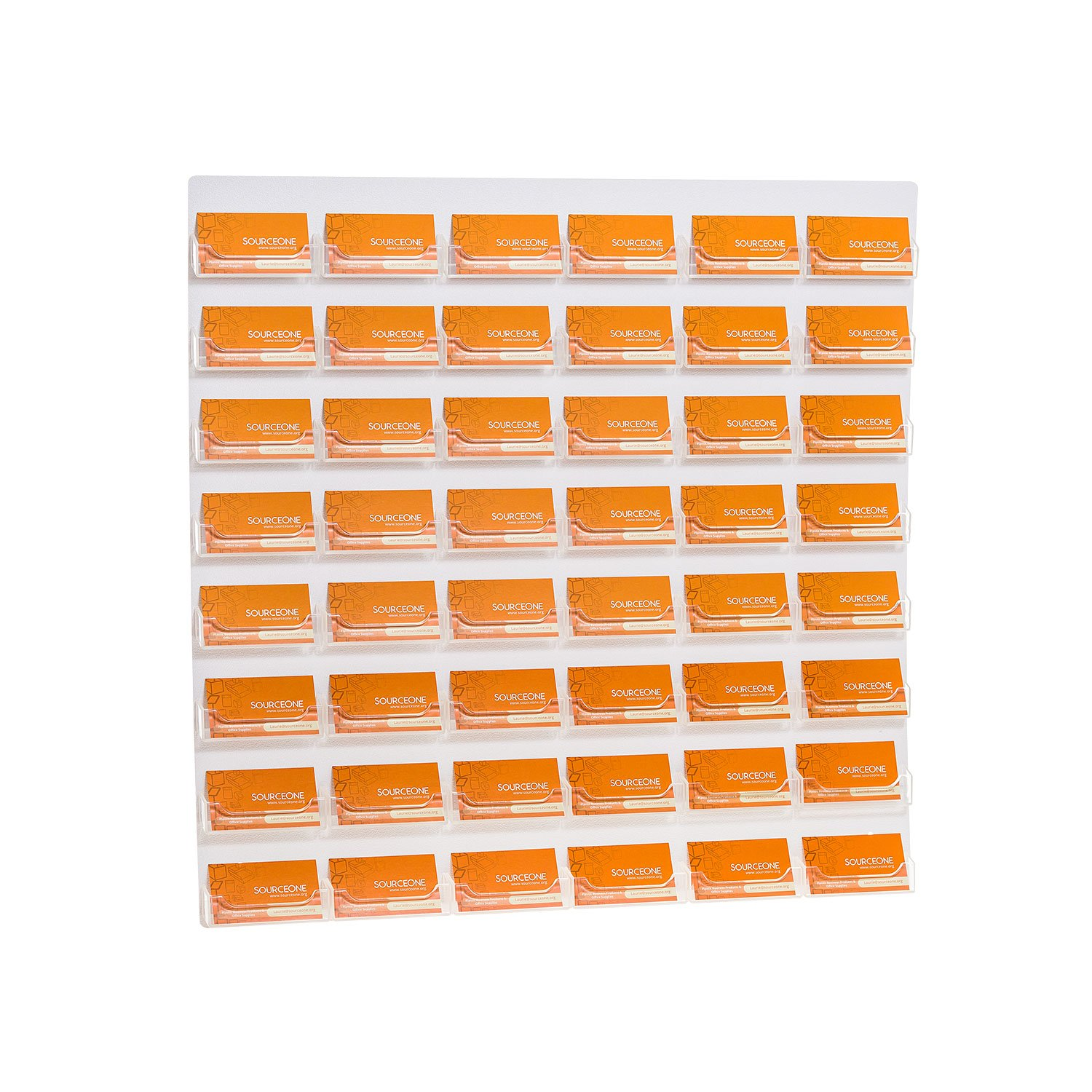Amazon.com : Source One 48-Pocket Wall Mount Business Card Holder ...