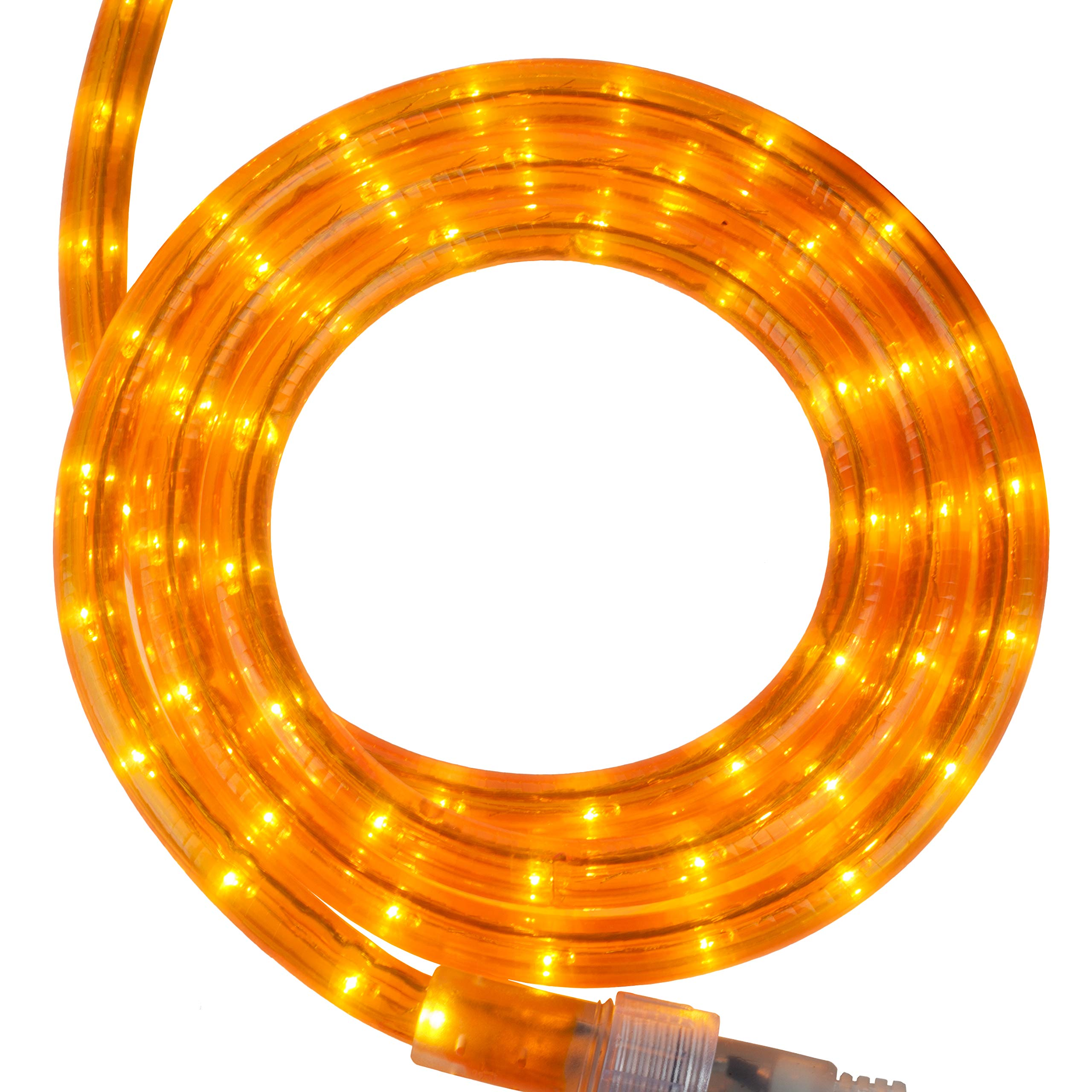 Incandescent Rope Light Kit – Light Rope Outdoor, Christmas Light Rope Light Color – Non LED Rope Light, Includes Rope Light Clips and Power Cord, 120V, ½ Inch, 2-Wire (12', Orange)
