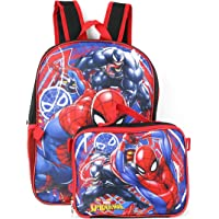 """Spiderman Marvel 16"""" Backpack with Detachable Lunch Box"""