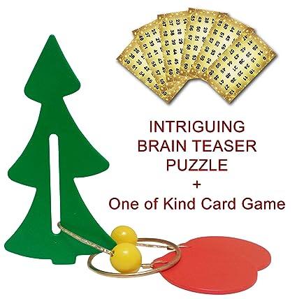 Christmas Brain Teasers.Amazon Com Super Fun Novelty Christmas Tree Brainteaser