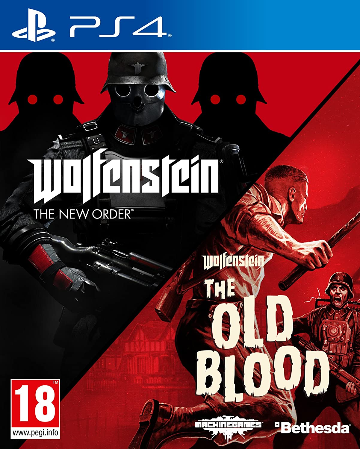 Wolfenstein The New Order and The Old Blood Double Pack - PlayStation 4 [Importación inglesa]: Amazon.es: Videojuegos