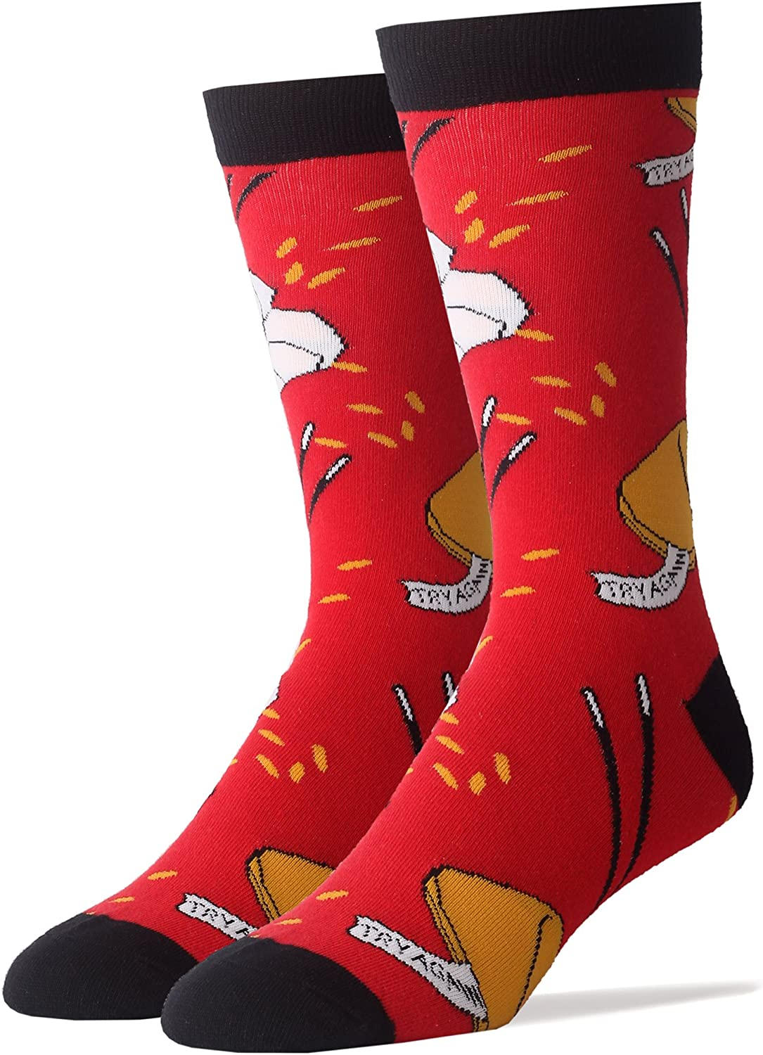One Black One Red Pair 2 PAIRS Foozys Women/'s Socks CHINESE TAKEOUT NEW