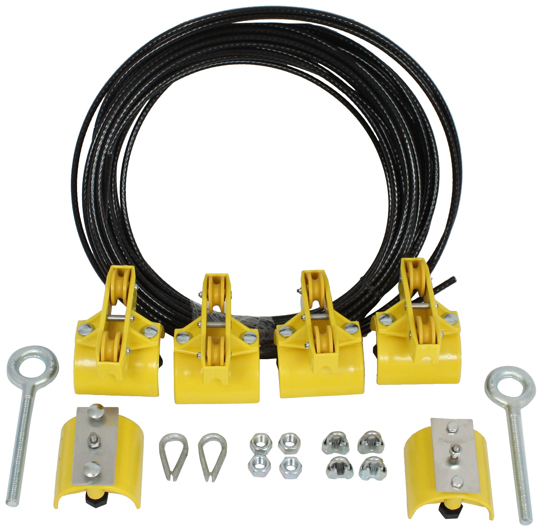 KH Industries FTSW-RL-KIT60 Festoon Stretch Wire Kit with 60' Length for Large Round Cable Systems