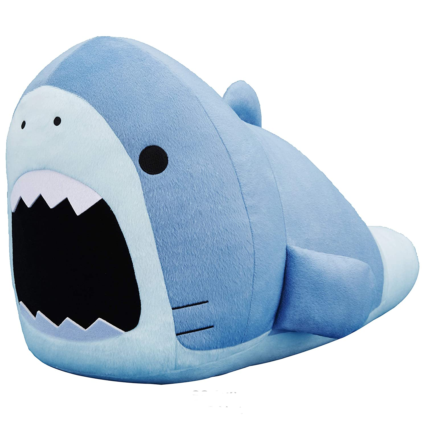 CLEVER IDIOTS INC SAMEZU Plush XL Stuffed Animal Shark - Cute, Collectable and Cuddly Toy Character - Ultra-Soft Polyester Fabric - Authentic Japanese Kawaii Design - Premium Quality (Megalo)