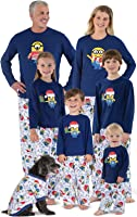 PajamaGram Officially Licensed Minion Holiday Matching Family Pajamas, Blue