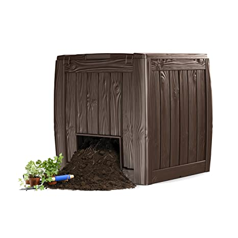 Keter A-1613-1 548584 Compostador, marrón oscuro, 340 L: Amazon.es ...