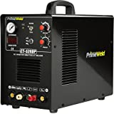 PrimeWeld Pilot Arc 50A Plasma Cutter, 200A TIG/Stick Welder Combo, Multipurpose Welding Machine for Home or Jobsite Use with