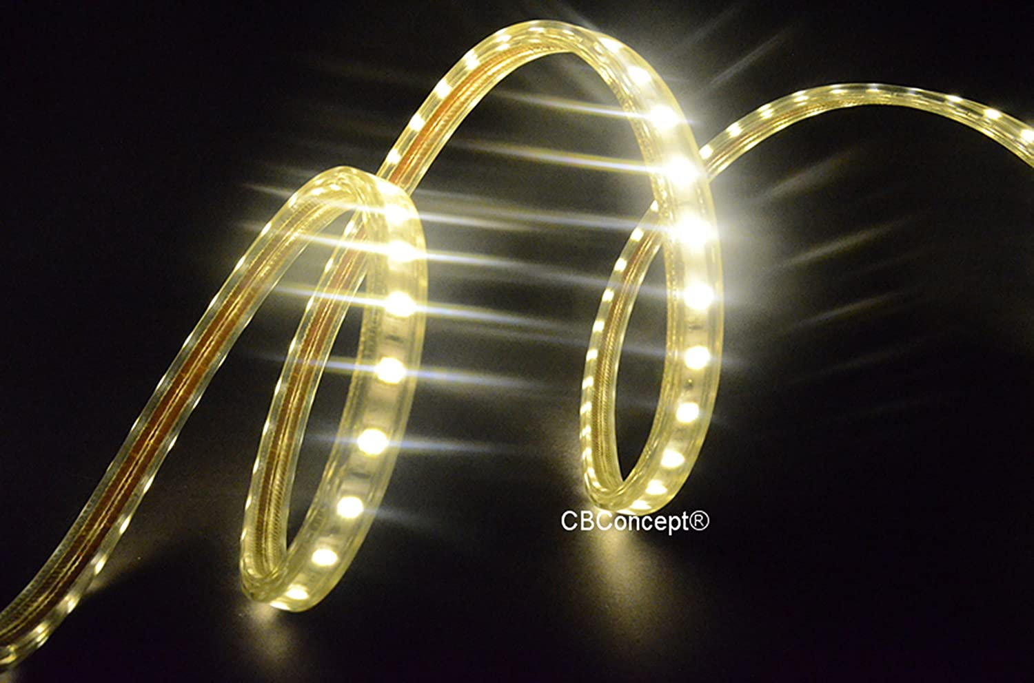 Amazon cbconcept ul listed 80 feetsuper bright 22000 lumen amazon cbconcept ul listed 80 feetsuper bright 22000 lumen 3000k warm white dimmable 110 120v ac flexible flat led strip rope light 1470 units aloadofball Choice Image