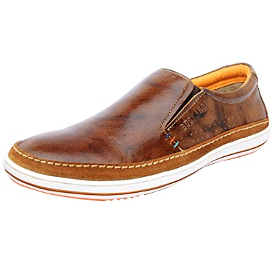 Buckaroo NEW EMERSON-Brown Mens's Leather Loafers-41 EU / 8 US Men