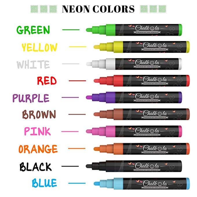 Amazon Liquid Chalk Markers Metallic Colors By Chalkola