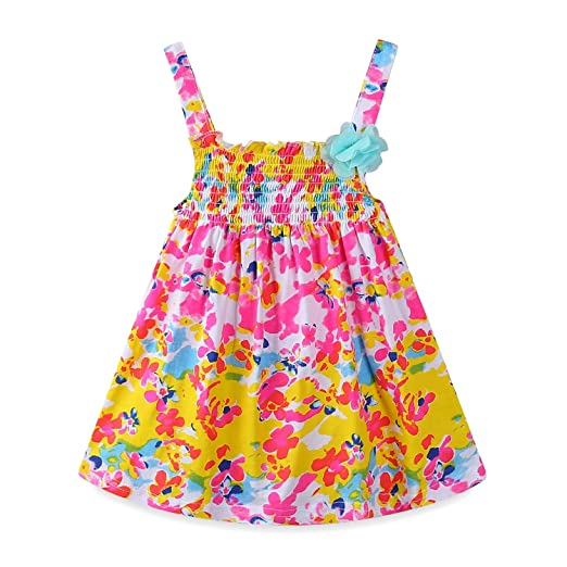 Amazon Com Mud Kingdom Baby Girl Clothes Summer Floral Slip Dresses