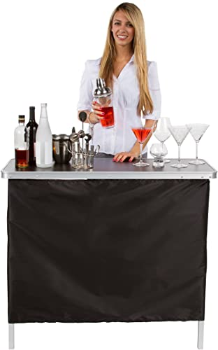 Trademark Innovations Portable Bar Table – Carrying Case Included –