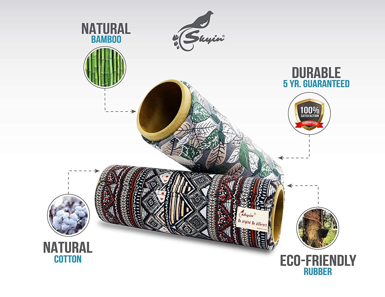 Made of Natural Materials,Eco Friendly Massage Roller Hope Firm Foam Roller,5 Year Warranty,Were a Houston-Based Company with 60-Day Satisfaction Guarantee Skyin Foam Roller We/'re a Houston-Based Company with 60-Day Satisfaction Guarantee.