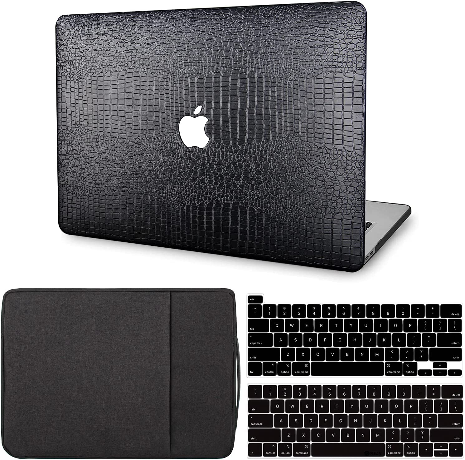 MacBook Pro 13 Inch Case 2020 2019 2018 2017 2016 Release M1 A2338 A2289 A2251 A2159 A1989 A1706 A1708, G JGOO MacBook Pro 2020 Case Touch Bar, Leather Hard Shell Case & Laptop Sleeve & Keyboard Cover