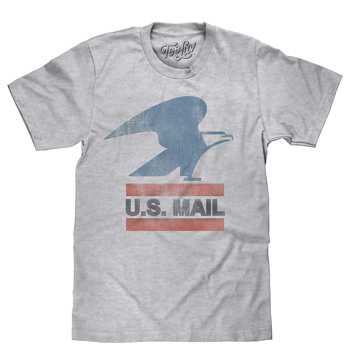 e274afa08 Tee Luv U.S. Mail Eagle Logo T-Shirt - Soft Touch USPS Shirt | Amazon.com