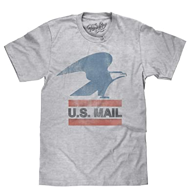 30adf50086636 Tee Luv U.S. Mail Eagle Logo T-Shirt - Soft Touch USPS Shirt ...